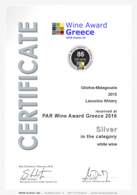 Lacovino Certificate_291_26155 Lacovino Winery Awards Wine