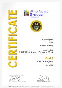 Lacovino Certificate_291_26156 Lacovino Winery Awards Wine